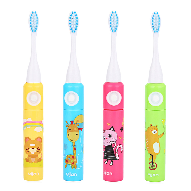 Animal Cartoon Printed Electric Toothbrush kids Dental Care Gum Massage Tools Waterproof Children Toothbrush Teeth Whitening