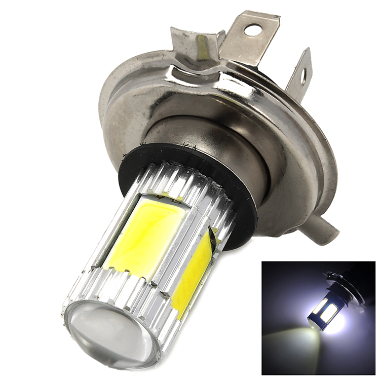 new products Car Light Source H4 13.5W 1250lm 4 x COB LED + 1 x Cree XP-E White Car Light(China (Mainland))