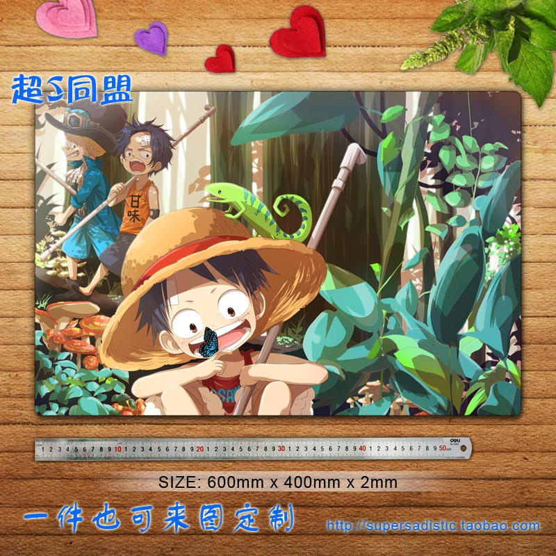 One Piece Anime Character (Straw Hat Monkey & Fire Fist Portgas D. Ace 1) Large Mouse Pad Desk & Table Play Mat Custom Mouse Pad(China (Mainland))