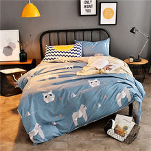 Yovepii Flower Bedding Set 3/ 4pcs Flat sheet, pillowcase&duvet Cover Set AB Side Bed Linens cotton%polyester Bedclothes Kid Bed(China)