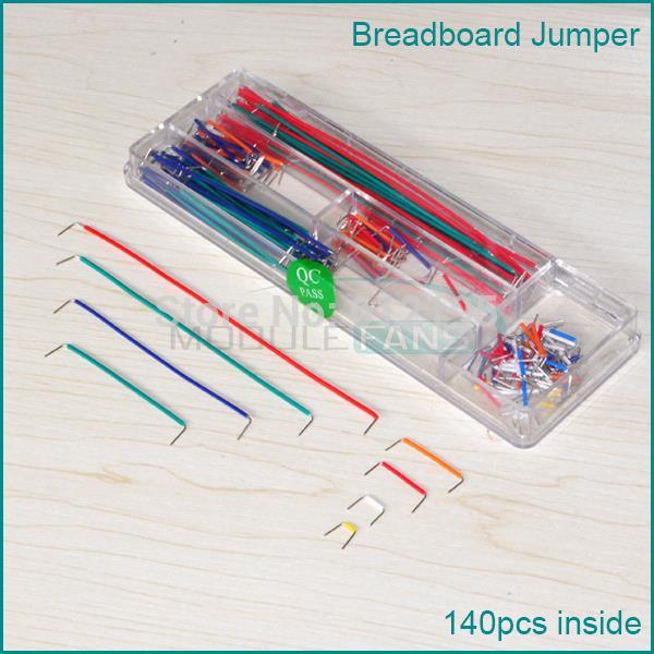 Гаджет  140 Pcs U Shape Shield Solderless Breadboard Jumper Cable Wires Kit for Arduino None Электронные компоненты и материалы