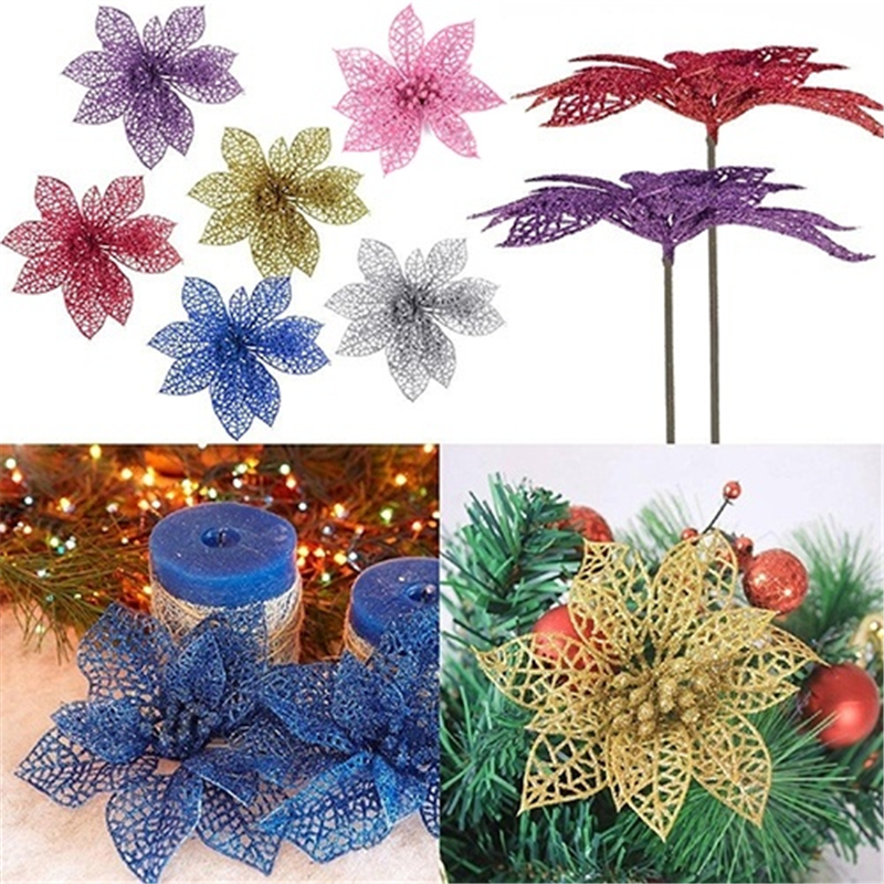 5pcs 10cm Shiny Flowers Wedding Party Decoration Flower: new flower decoration