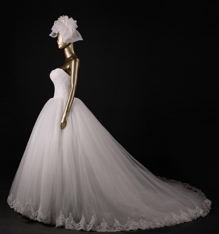 Милая аппликация - линии свадебное платье vestidos novia поезд на свадебные платья