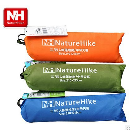 NH 4 Person Large Beach Garden Oxford Ground Mat Shade Blanket Pad for Camping Hiking 2.1x2.15M Rainproof(China (Mainland))