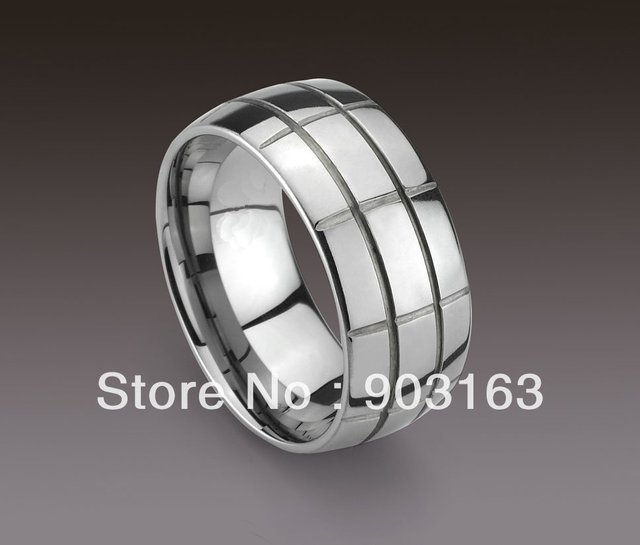 Wholesale New Guaranteed 100% 10MM Man's Tungsten Carbide Lump Wedding Band Ring + free shipping
