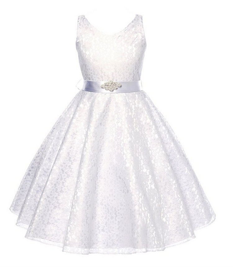 girls party wear dress kids 2015 summer sleeveless lace girls princess wedding dress teenagers kids party prom gowns 6 - 12years(China (Mainland))