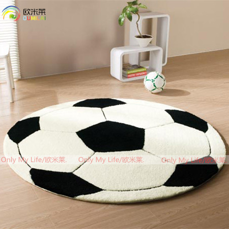 handmade cartoon football pattern soccor carpet chair round floor MATS home decor - Linda's lovely items store