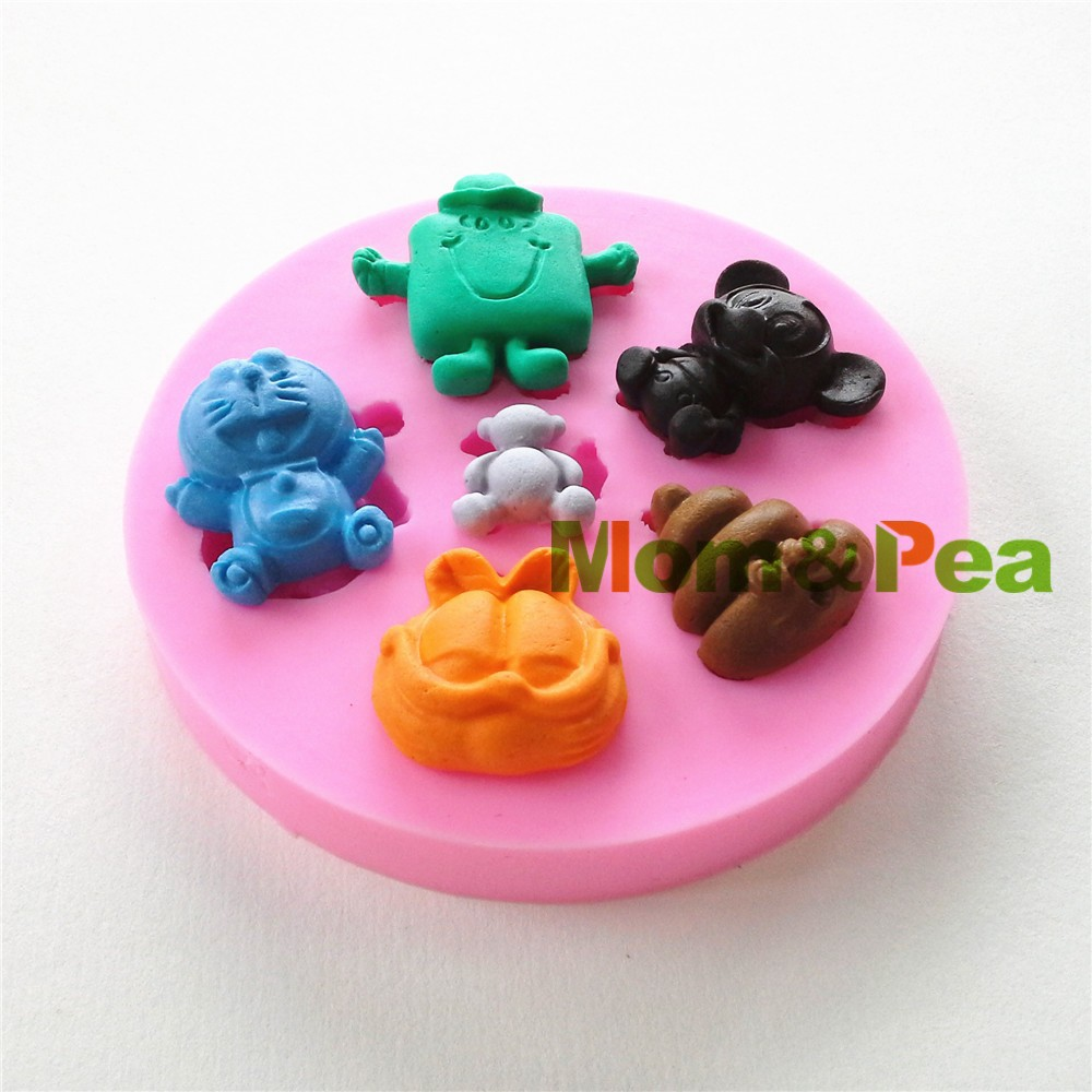 Mom&Pea 0769 Free Shipping Garfield Shaped Silicone Mold Cake ...
