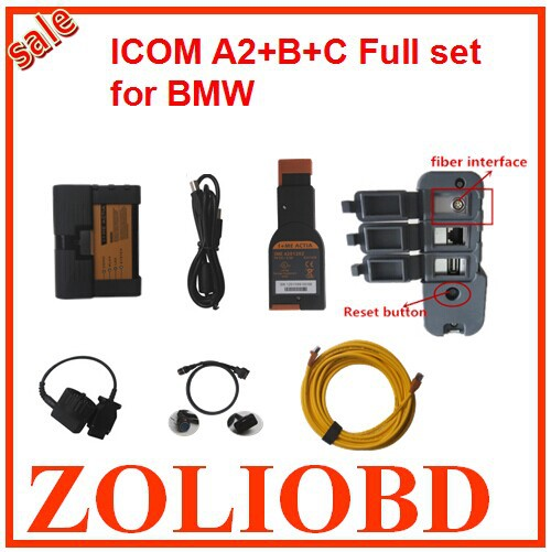 2016 icom a2 Reset button fiber Auto Diagnostic & Programming BMW A2+B+C scanner Selling best 1 year free warranty - ZL Obdtoolshop Co.,Ltd. store