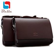 Genuine pu leather bag men messenger bags high quality kangaroo brand laptop briefcase men casual shoulder bag dollar price A2V5(China (Mainland))
