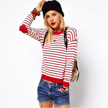 Top Quality Polo Women Sweaters 2015 New Fashion Brand Love Hearts Patch Striped Knitwear Pullover Ladies Sweater Shirt Hot(China (Mainland))