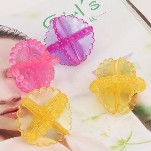 WSFS Wholesale 2 X 4pcs Reusable Laundry Dryer Ball Washing Ball--Varying Color(China (Mainland))
