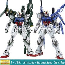 Momoko Model Gundam Seed MG GAT-X105 Sword / Launcher Strike Ver. RM 1/100 Scale Action Figure Assembled Toys Anime - Baby Rhythm store