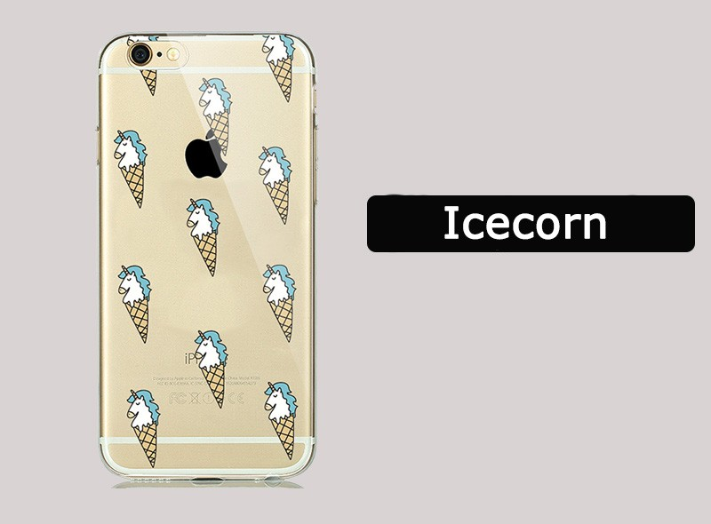 Funny Cute Fruit Banana Ghost Case for coque iphone 7 7Plus 6 6s 5 5S SE Silicone Rubber Clear Cases Unicorn Flamingo Cover Capa