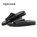 YIQITAZER 2017 New Summer Beach Mens Sandals Genuine Leather Shoes High Quality Nice Unique Water Shoes