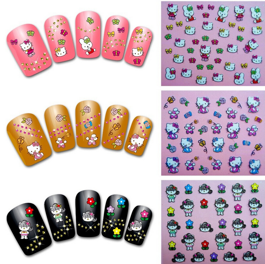 hello kitty 3d nail art supplies. Black Bedroom Furniture Sets. Home Design Ideas