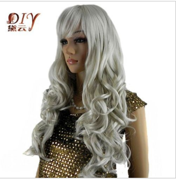 suyushun546+++Express delivery to USA Women Wavy Synthetic Bangs Hair Full Party Cosplay Long Wig(China (Mainland))
