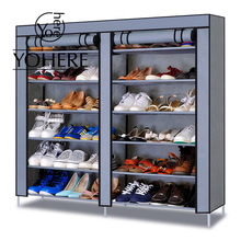 YoHere 12 layers assembled non-woven fabric shoes cabinet folding dustproof wetproof shoe lockers racks for living room(China (Mainland))