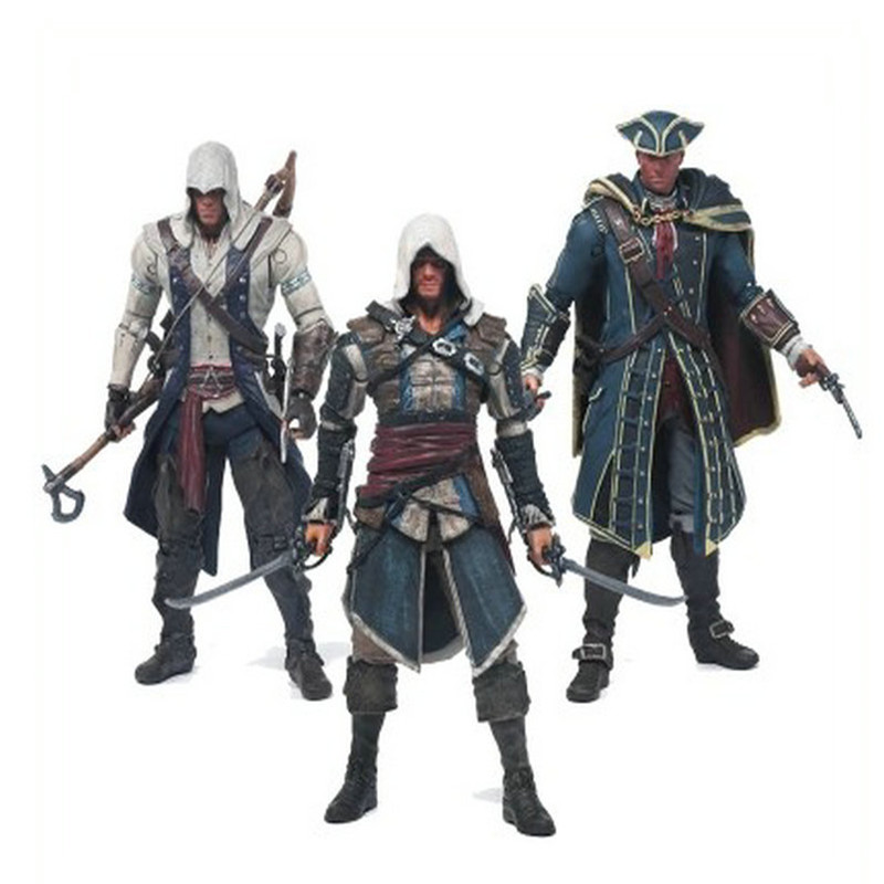 2016 New Action figure 6 inches Connor Assassins Creed Assassins's game doll Edward Canvey Cosplay  moving model toy