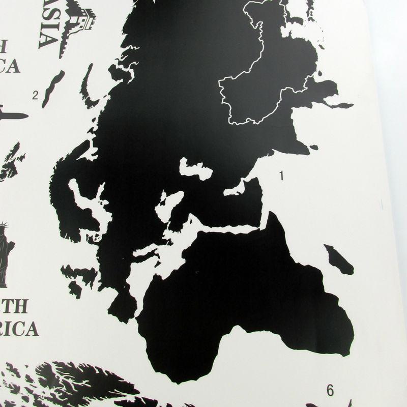 world map wall sticker WS019-3
