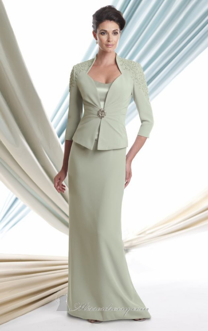 Mother Of The Bride Long Dresses With Jackets   Beatific Bride