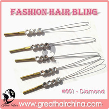 buy Weaving Wig Cap & Hair Net will get a Gift Fashion Crystal Hair Accessories for Wedding 15 Packs/Lot Free Shipping by DHL