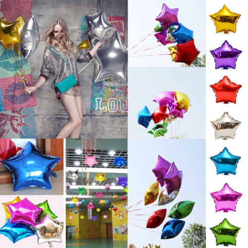 """18"""" Star Foil Helium Balloons Birthday Wedding Anniversary Party Supplies Decors wholesale price(China (Mainland))"""