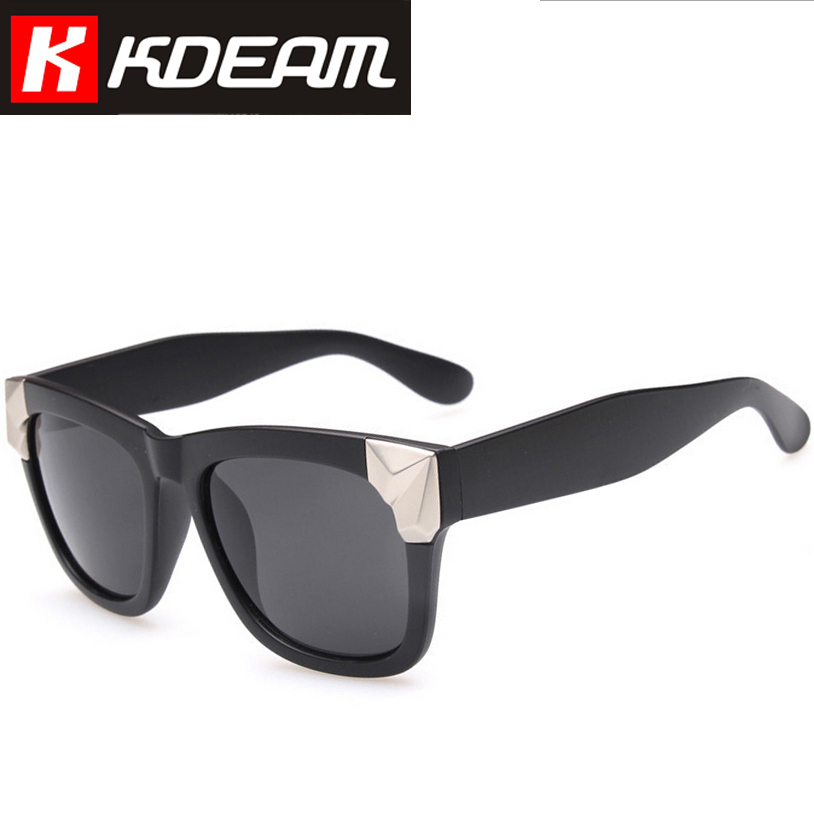 Kdeam Eyewear 2015 New Fashion Sunglasses Mens Retro Women Sun Glasses With Case Big Size Cool