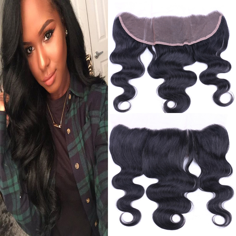 Raw Eurasian Hair Full Lace Frontal Closure 13x4 7A Bleached Knots Ear To Ear Lace Frontals With Baby Hair Eurasian Hair Weave