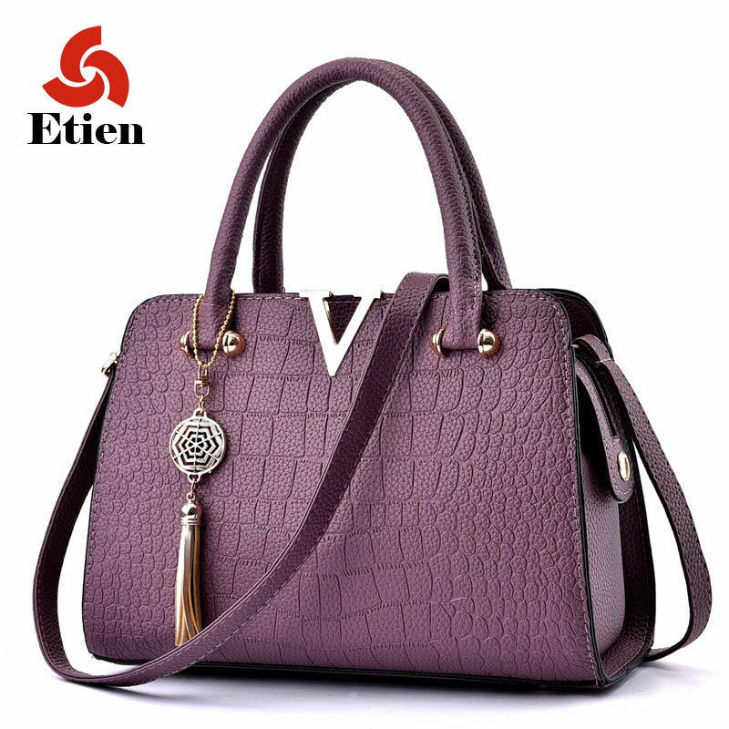 2017 Women Famous brand designer Luxury pu leather handbags women messenger bag Ladies Shoulder bags crocodile pattern Crossbody(China (Mainland))