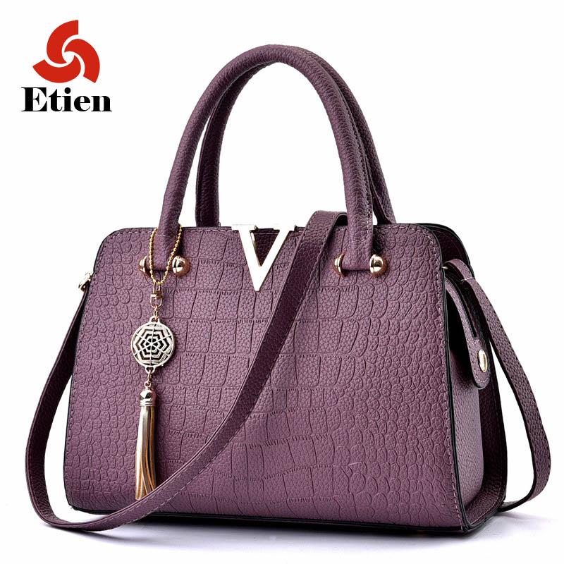 2017 Women Famous brand designer Luxury pu leather handbags women messenger bag Ladies Shoulder bags crocodile pattern Crossbody(China (Mainland))