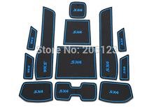 / Silica gel Gate slot pad /Non-Slip Interior Door/ Cup Mat fo 12013 2014 2015 Suzuki SX4 Fast air ship - lijia43 store