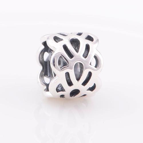 Оригинал 925 бусины круглый полый волна европейский шарм женщин серебро 925 ювелирных изделий подходит пандора стиль браслет
