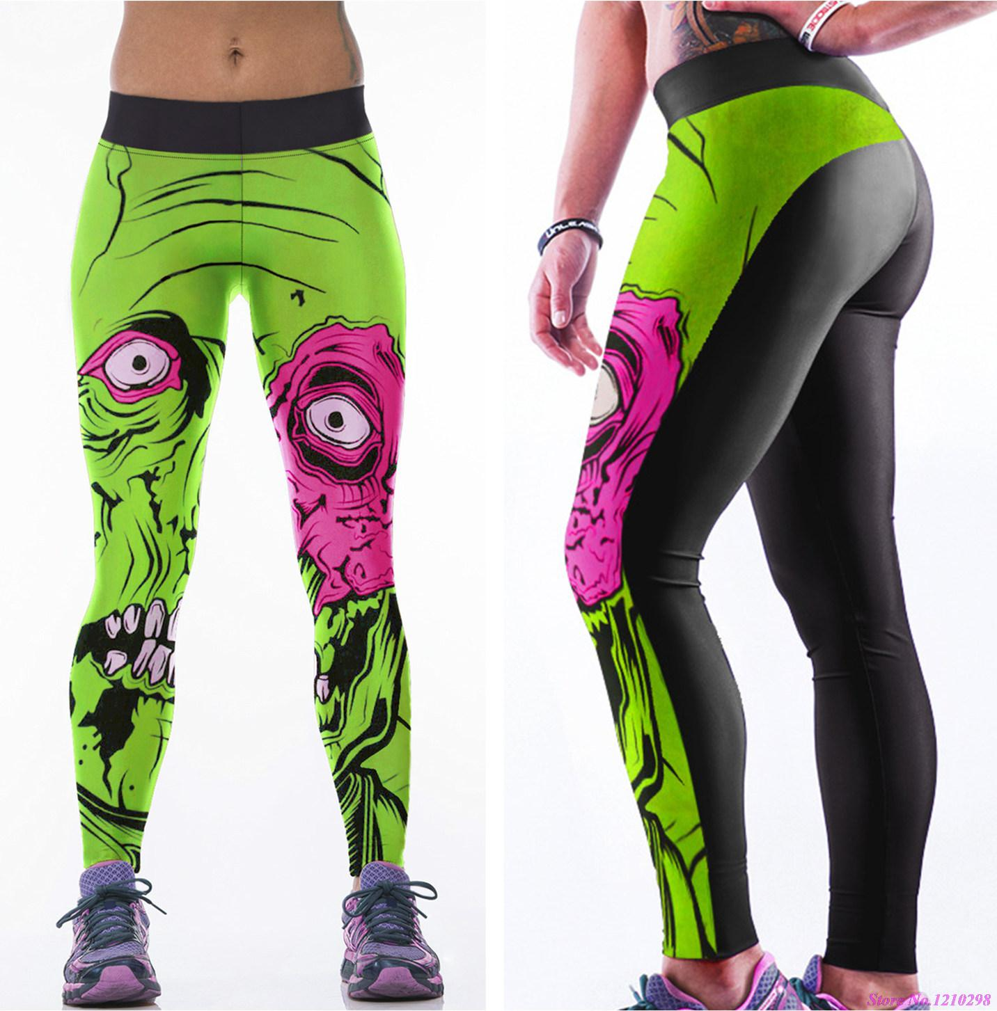 Pink And Green Running Pants