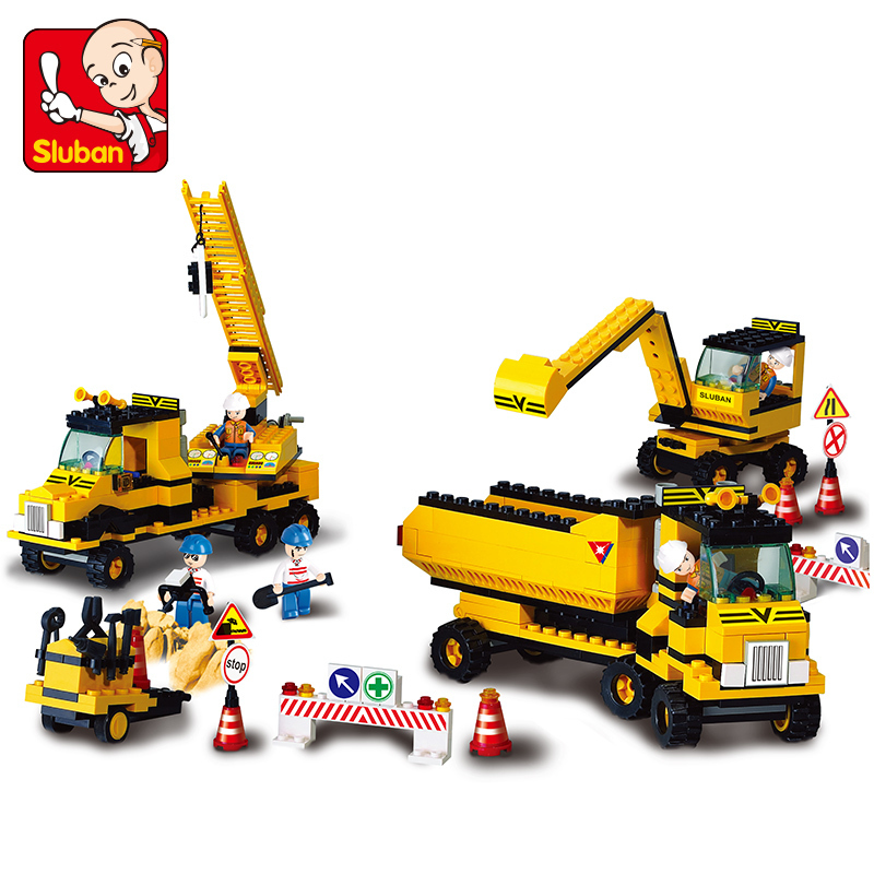 Sluban model building kits compatible with lego city work 667 3D blocks Educational model & building toys hobbies for children(China (Mainland))