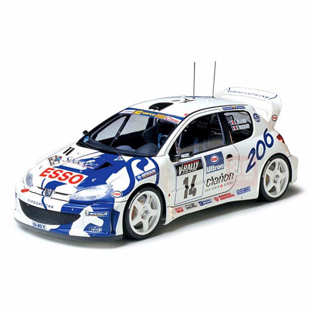 Tamiya 24221 1/24 Peugeot 206 WRC Automotive Car Model Building Kits TTH(China (Mainland))