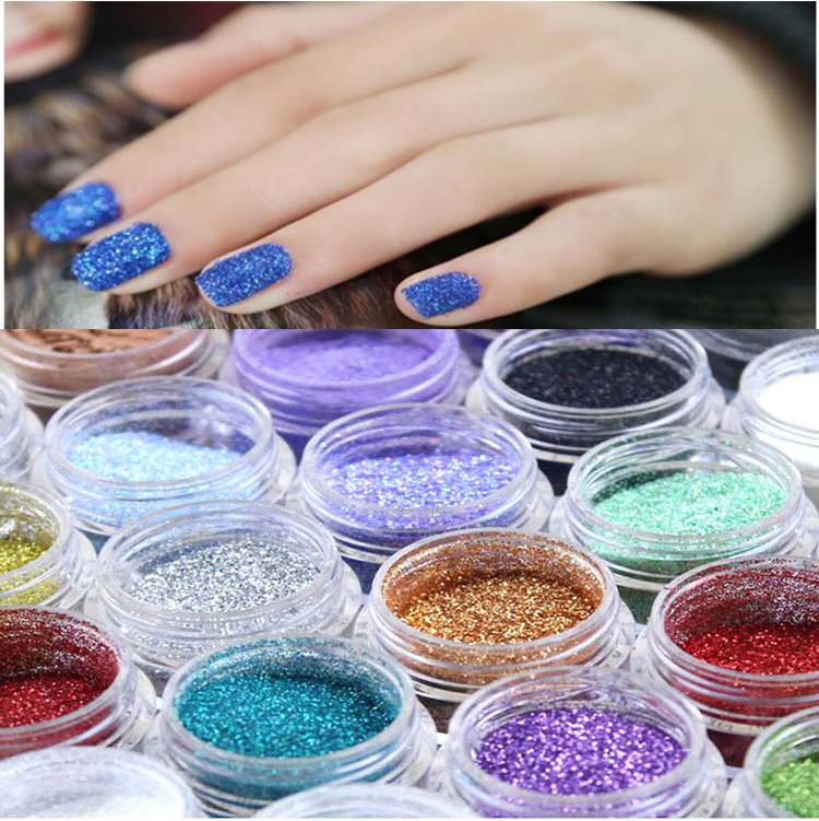 Hot Sale 1pcs 24 Colors polvere Nail Art glitter glitters voor nagels poudre dust Powder Acrylic Decoration Tips For Girl Women(China (Mainland))