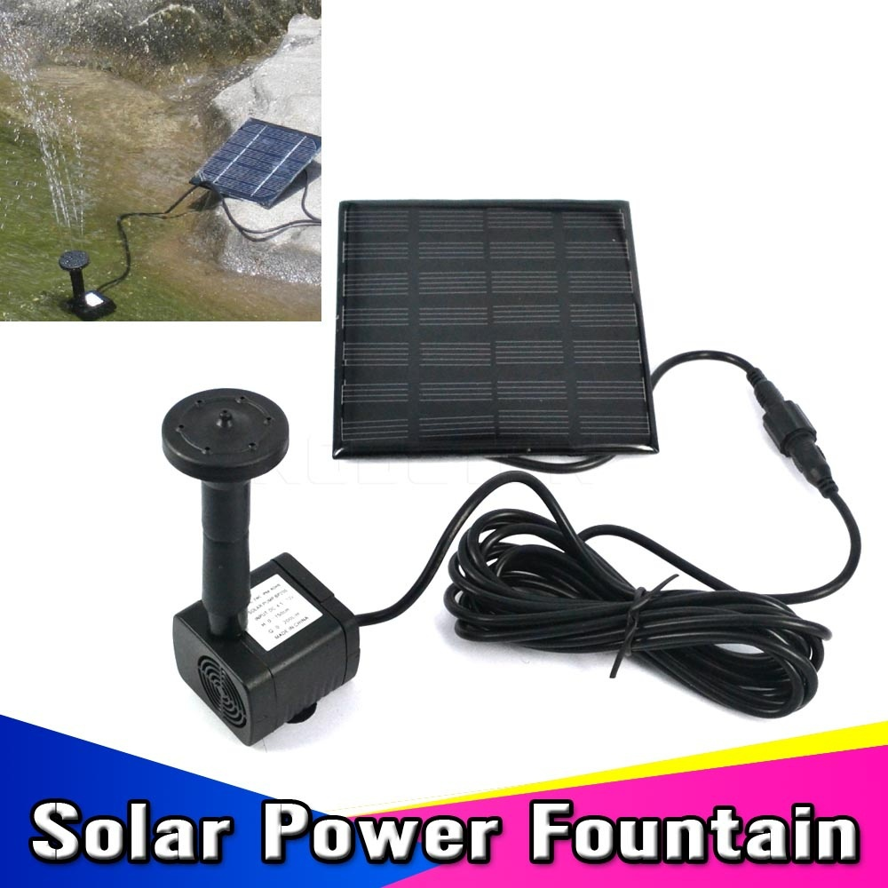 2015 1set Solar Power Panel Kit Brushless Cycle Water Pump Submersible Watering For Garden Pond Fountain Electronic Rockery(China (Mainland))