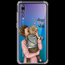 Fashion Black Brown Hair Baby Mom Girl Case For Huawei Honor 7 7i 7C 7X 10 Lite 7A Pro 4C 4X 5C 5X 6 6A 6C 6X 8 8X 9 9 Lite Capa(China)