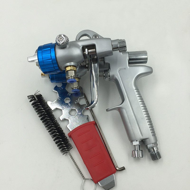 SAT1189 free shipping wall painting ningbo two double nozzle spray gun airless automatic spray chrome plating machine
