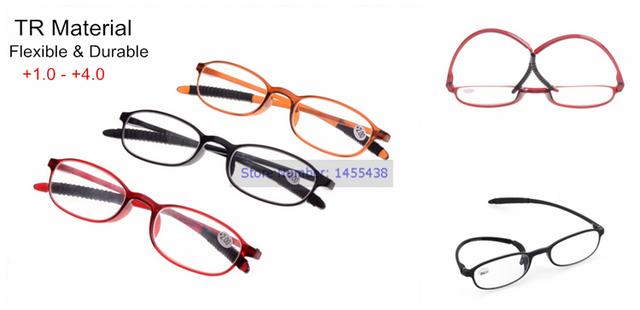 Гибкая мужчины женщины мягкий TR TR90 рамка очки для чтения спектакли чтения очков ...