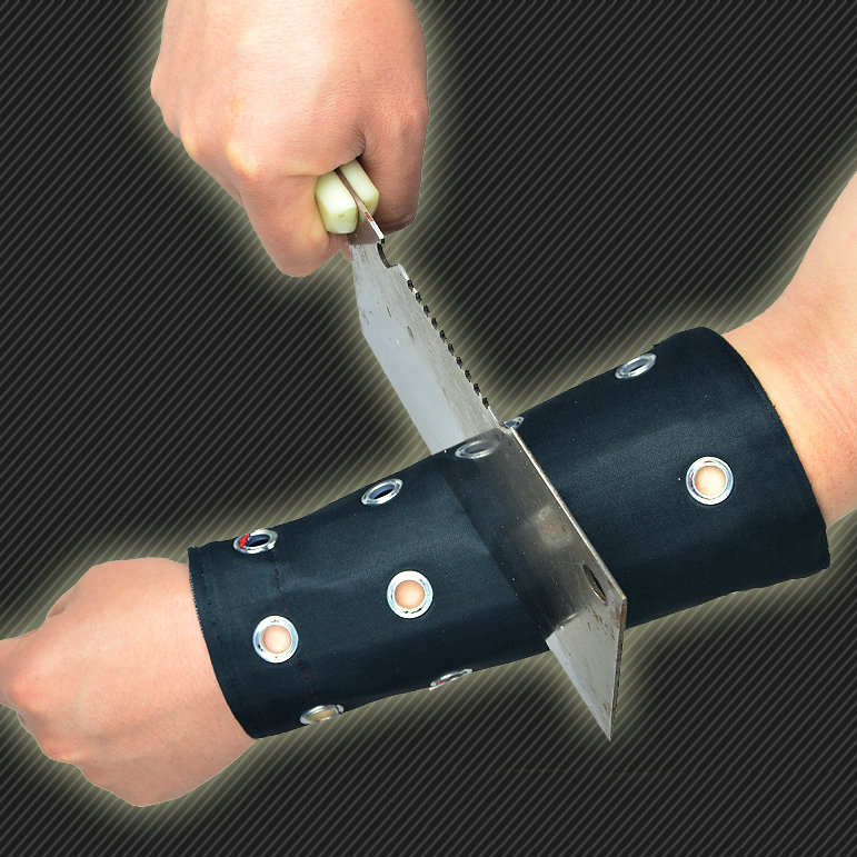 Anti cut wrist support Steel plate inside prevent knife sword wristband Public security wrist band(China (Mainland))