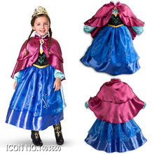 New Custom Anna Elsa Girls Dresses Winter Children Dress Kids Party Summer Vestido Baby Cinderella Cosplay Dress Pincess Dresses