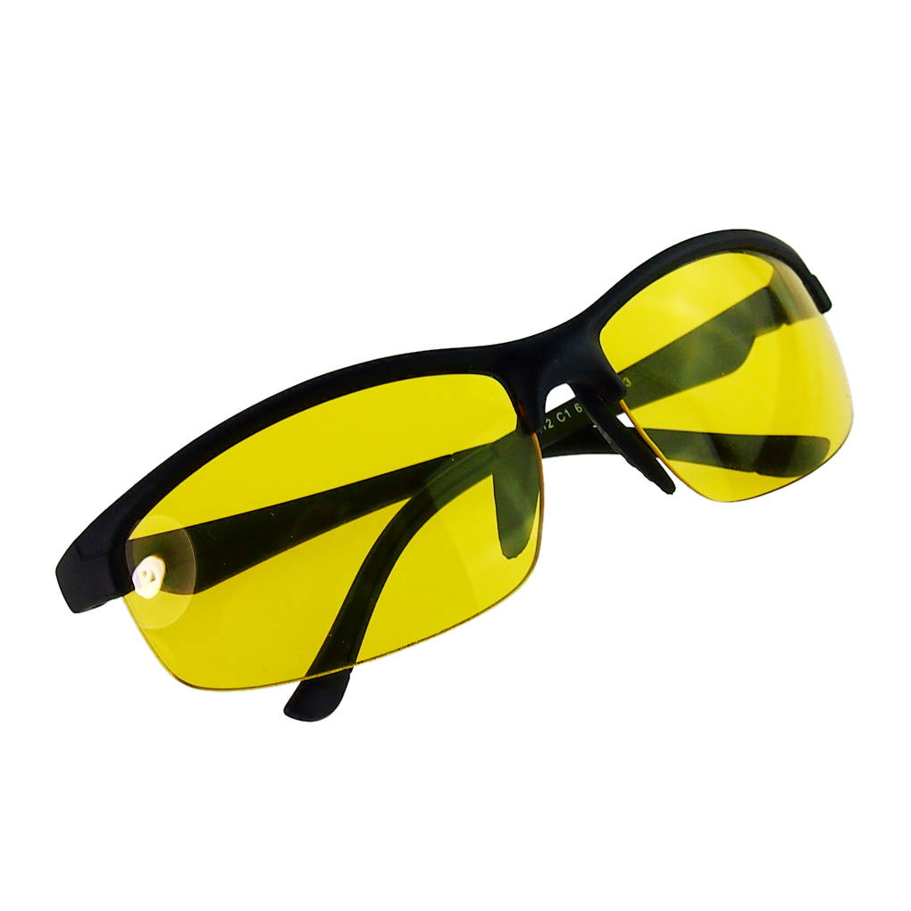 New arrival Plastic Resin HD High Definition Night Vision Glasses Driving Yellow Lens Classic Aviator UV400