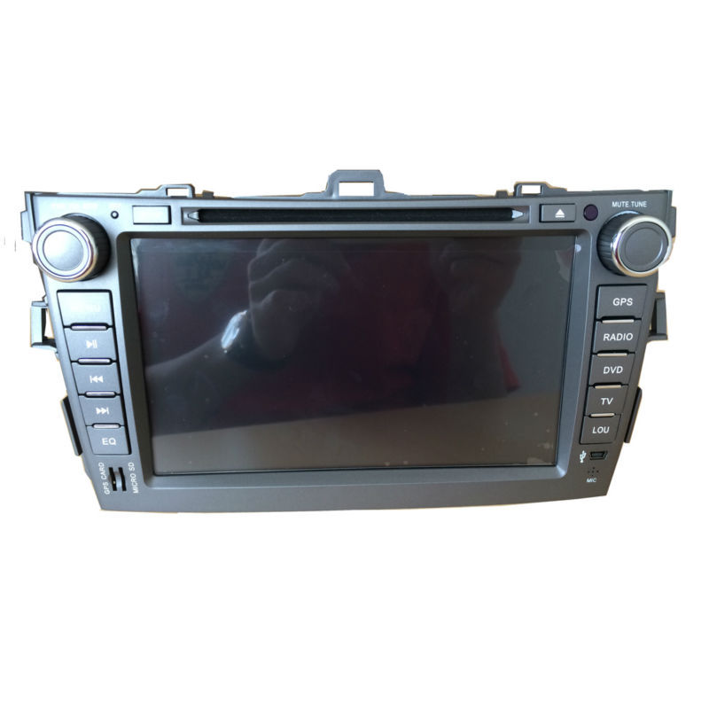 8''Android 4.4 Multimedia Car DVD GPS Navigator Capacitive 3G Wifi for 2007-2013 TOYOTA Corolla 1.6G Dual core CPU(China (Mainland))