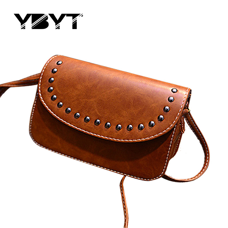 vintage rivet mini leather handbags hotsale ladies party purse wedding clutches women small crossbody shoulder messenger bags(China (Mainland))