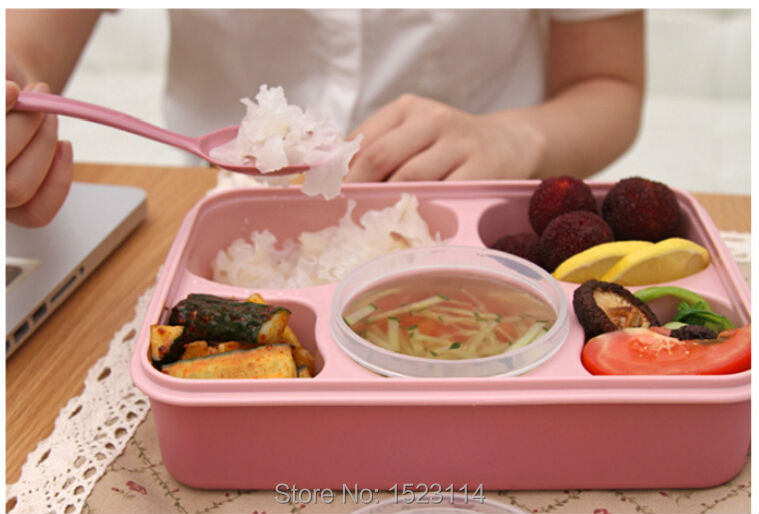 tableware lunch box microwave transparent preserving plastic bento container with spoon and soup. Black Bedroom Furniture Sets. Home Design Ideas