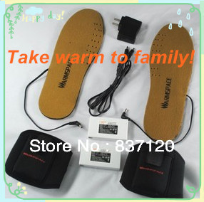 High price rate! Electronic Heating Heated Insoles+3.7V 2200mAh Lithium battery+charger+USB cable Ankle Support free shipping(China (Mainland))