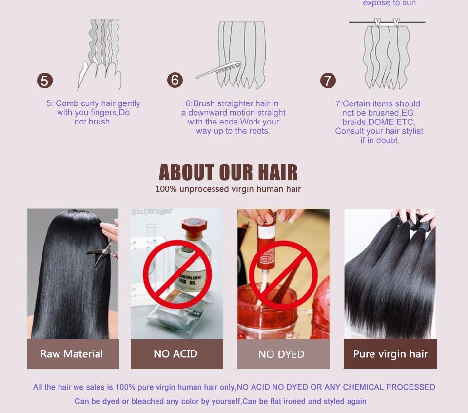 Ear To Ear Lace Frontal Closure With Bundles Brazilian Body Wave Virgin Hair Human Hair 3 4 Bundles With Frontal Closure Bundle