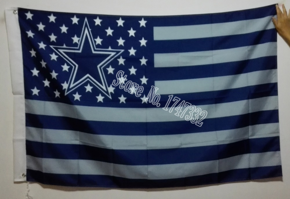 Dallas Cowboys USA NFL Premium Team Football Flag hot sell goods 3X5FT 150X90CM Banner brass metal holes DC01(China (Mainland))